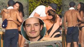 Orlando Bloom dováděl na pláži se sexy kráskami! Jak to má vlastně s Katy Perry?