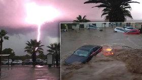 Dovolenkový ráj postihly další záplavy. Voda zaplavila na Mallorce desítky domů