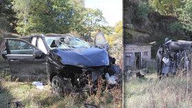 Zfetovaný cizinec se na Českolipsku zřítil ze srázu: V kradeném automobilu prchal před policisty