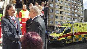 Prostě jen zavřela oči a pustila se: Záchranář Ondřej z Hradce Králové chytil ženu, co skočila z okna