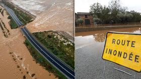 Záplavy zabíjely v dovolenkových rájích. Pod vodou je Sardinie i Azurové pobřeží