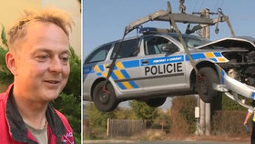 Policisté bourali při honičce: Poté odvedli v želízkách zastupitele Slaného, který nehodu fotil