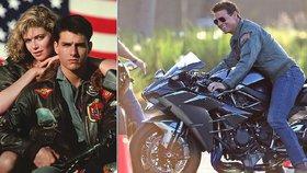 Tom Cruise natáčí druhý díl Top Gunu: První fotky Mavericka