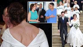 Královská svatba princezny Eugenie: Nevěsta ukázala jizvu, kterou jí udělal Čech