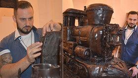 Středoevropský unikát: Parní vlak je celý z čokolády a váží přes půl tuny