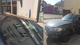 Pražáky v Ostravě asi nemají rádi: Michal našel ve svém BMW zaseknutý krumpáč
