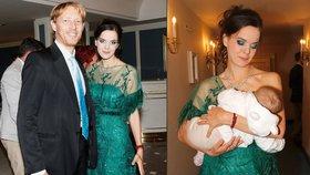 Druhá manželka miliardáře Janečka vytáhla na udílení cen prs a řekla: Kojení je zdravé!