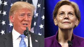 """""""Falešná Pocahontas,"""" vysmíval se Trump senátorce. Vytřela mu zrak testy DNA"""