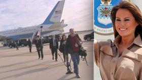 Drama v letadle Trumpové: Palubu Air Force Two zaplnil kouř, lidé nemohli dýchat