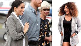 Povedená reklama pro Serenu: Vévodkyně Meghan oblékla sako od slavné tenistky