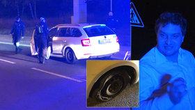 Sprostě nadával, má mnohonásobný zákaz řízení: Opilý řidič jel s proraženou pneumatikou