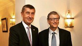 Babiš se sešel v Bruselu s Billem Gatesem. Počítačového mága pozval do Prahy