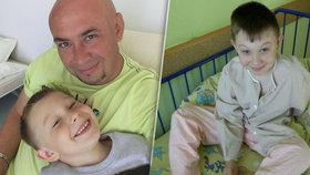 Poslední foto a slova Adámka, než začal krvácet a ochrnul: Táto, doktoři mi pomůžou, už nebudu smrkat!