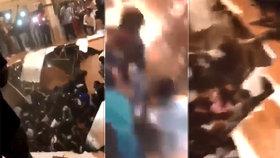 Šokující video: Lidé na večírku tancovali, propadla se pod nimi podlaha