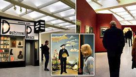 VIDEO: Národní galerie v obležení Pražanů: O prvorepublikovou výstavu je veliký zájem