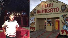 """Pan Humberto: """"Cirkus nám shořel, spláchla ho voda, odnesl vítr."""" Na výrostky vzal vzduchovku"""