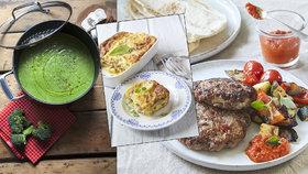 Co bude o víkendu k obědu? 3 recepty na brokolicový krém, zapečené brambory s hovězím i pljeskavicu