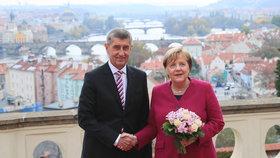 Merkelová v Praze Zemana vynechala. S Babišem řešili vztahy v EU i pomoc Africe