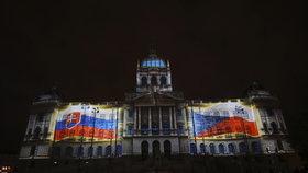VIDEO: Videomapping na fasádu Národního muzea se potýkal s problémy. Přesto diváky nadchnul