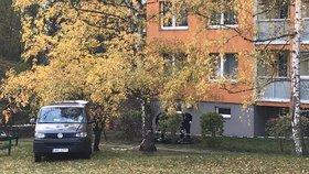 Tragédie v Modřanech: Muž (†51) zemřel pod okny paneláku, nejspíš z něj vypadl