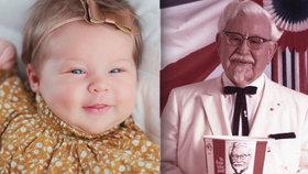 """""""Chudák dítě."""" Rodiče pojmenovali holčičku Harland kvůli penězům od KFC"""