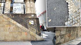 Výsadkáři tu vzdorovali po atentátu na Heydricha. Chodník v centru Prahy teď hyzdí asfaltový pruh