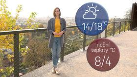 Počasí s Honsovou: V sobotu se po dešti rozjasní, v neděli bude až 18 °C