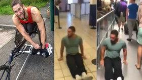 Neskutečně mě ponížili! Ochrnutý atlet žaluje letiště: Nedali mu vozík, plazil se mezi cestujícími