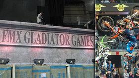 V O2 areně létaly motorky: FMX Gladiator Games slaví dospělost
