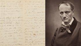 Baudelairův dopis o sebevraždě se vydražil za šest milionů. I když se jen pořezal