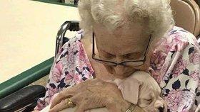 Okamžiky, které dojmou! Chovatel bere štěňata do domovů pro seniory, aby jim udělal aspoň malou radost