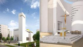 Na Barrandově staví vysněný kostel. Místní si ho přáli už před druhou světovou válkou, dočkali se až nyní