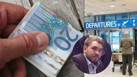 Poslance na letišti v Praze zadržela policie. Dárek matce platil falešnými eury