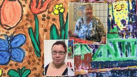 Život k nim nebyl přívětivý. Optimismus psychicky handicapované Jiřina s Olgou dávají najevo malbami