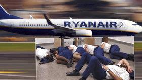 Posádka vyfotila, jak nocuje na letišti na zemi. Ryanair jí dal padáka