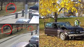 Šokující video z Brna: Řidičce ujel auťák do parku! Druhá si spletla brzdu a plyn