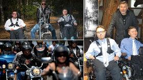 Motorkář Pepa (64) pomáhá lidem se vzácnou chorobou: Vydělal pro ně už přes 4 miliony