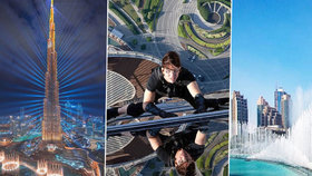 Tajemství nejvyšší budovy světa: Mrakodrap pojme celé město a Tom Cruise z něj visel na laně!
