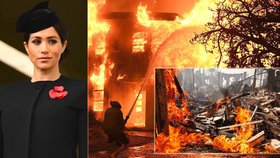 Obří požár zasáhl královskou rodinu! Těhotná Meghan se třese strachy