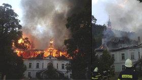Zámek na Trutnovsku podpálili sérioví žháři! Policie jim jde po krku