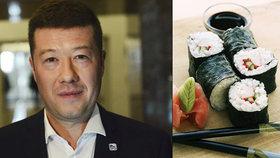 Sushi na Štědrý den? Z mailu Okamury přišla nabídka na vánoční slevu. Podvrh, zuří šéf SPD