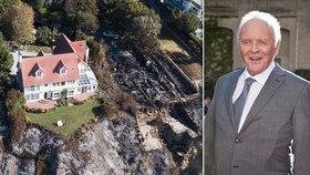 Z pekla štěstí Anthonyho Hopkinse: Požár se jeho vile v Kalifornii zázračně vyhnul!