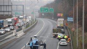 Vážná nehoda na Jižní spojce: Muže srazilo auto! Na místo letěl vrtulník