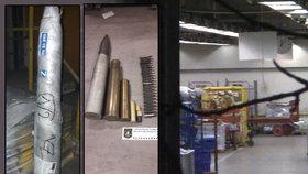 Protitankovou střelu a munici někdo posílal poštou: Třídírnu v Malešicích museli evakuovat