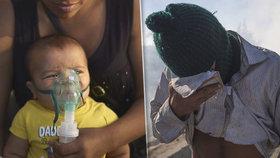 """Pohraničníci vzali slzný plyn i na děti. """"Skvělý způsob,"""" hájí boj s migranty"""