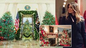 Vánoční výzdoba Bílého domu à la Melanie Trump: Zářící kýč, až oči přecházejí!