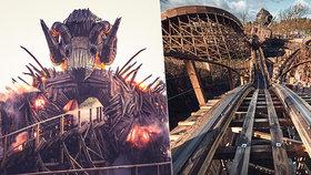 Hororová horská dráha v Anglii: Jízda pekelnou bránou za 476 milionů korun!