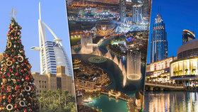 Největší nákupní centrum světa, luxusní hotely i průzračné pláže! Hitem jsou Vánoce v Dubaji