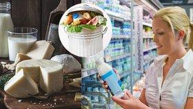 """Neskutečné plýtvání: V odpadu končí miliony tun sýrů a mléka ročně, další se """"ztratí"""""""
