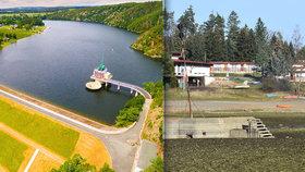 Tohle jste přes 50 let neviděli: Hracholuská přehrada vyschla a odhalila vojenský bunkr